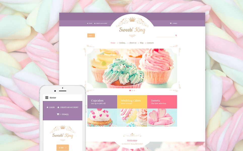 Sweet Shop Responsive VirtueMart Template