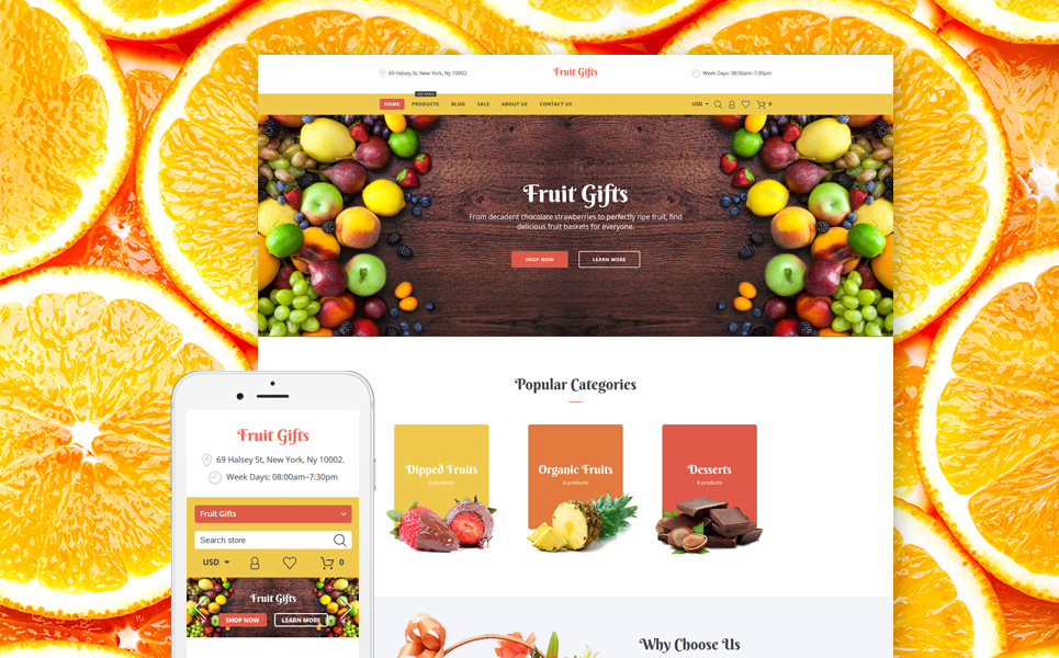 Fruit Gifts Shopify Theme