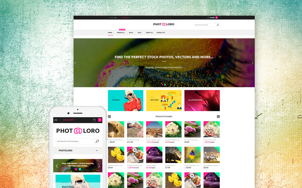 PhotoLoro Shopify Theme