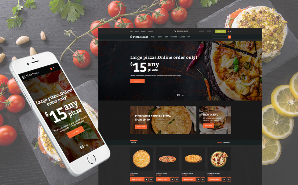 Advanced Pizza Restaurant OpenCart Theme