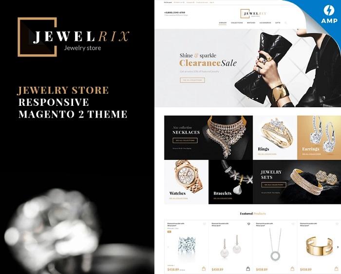 Jewelrix - Jewelry Online Store Magento 2 Theme