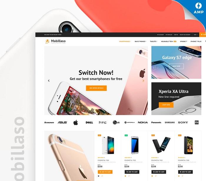 Mobillaso - Mobile Store Responsive Magento 2 Theme